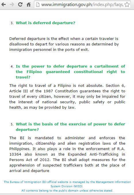 offloaded philippine immigration rules requirements airport
