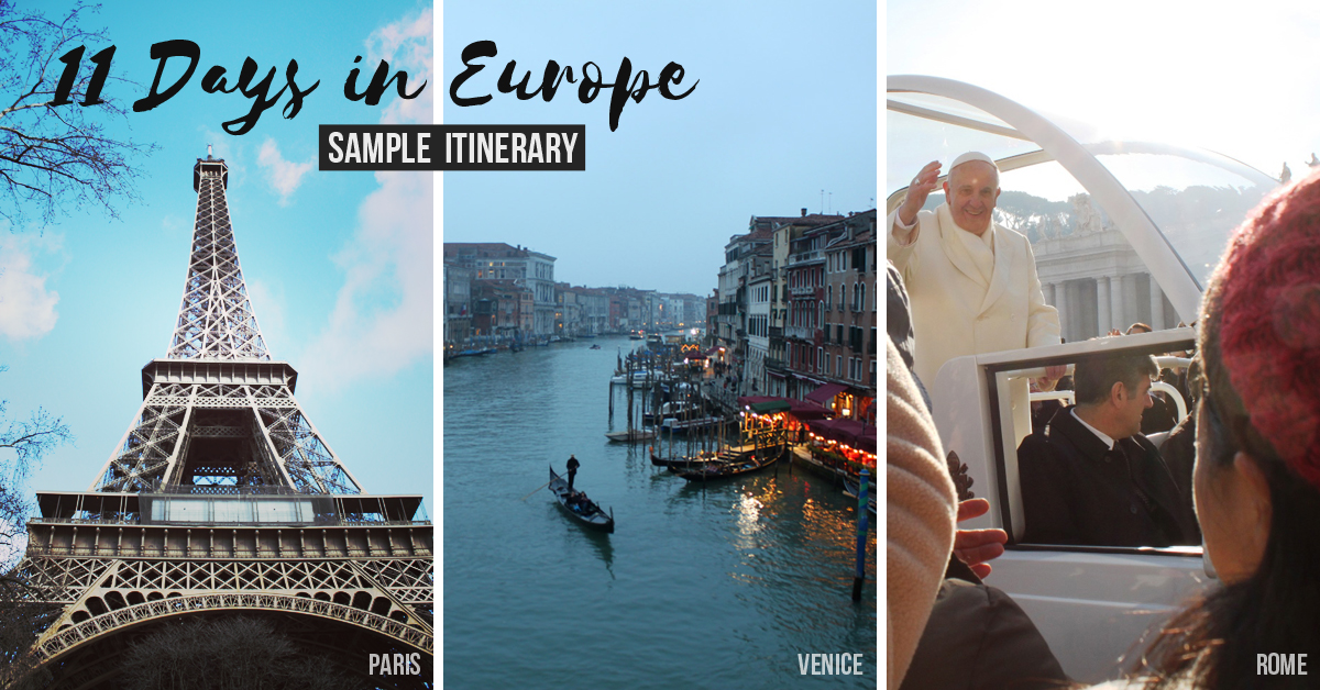 11 days in Europe sample itinerary