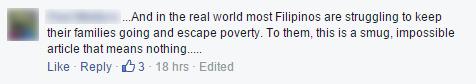 Filipinos are struggling