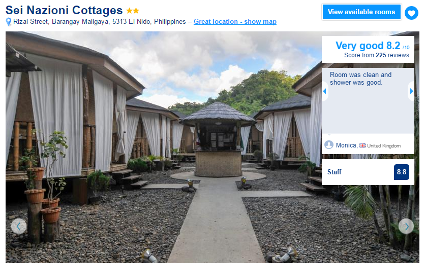 Where to stay in El Nido - Sei Nazioni Cottages