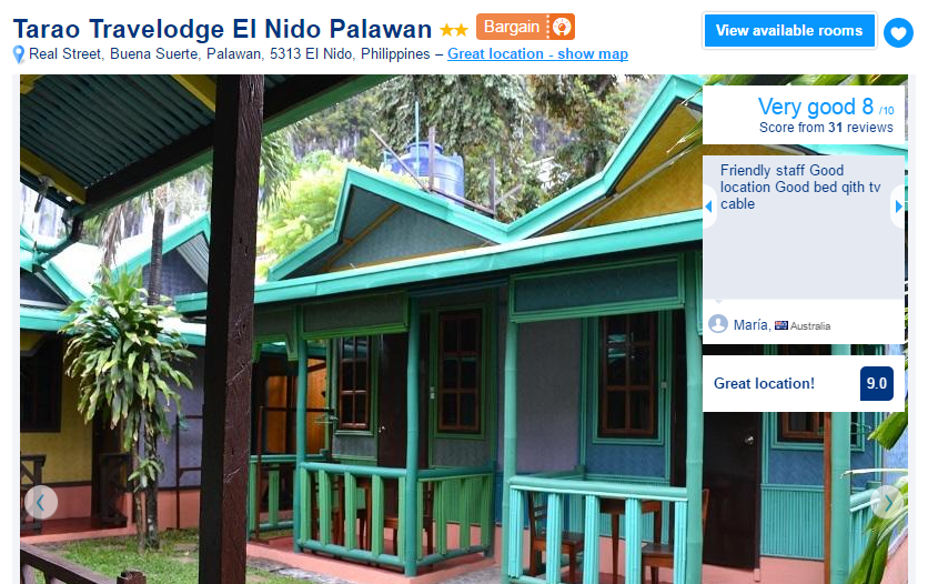 Where to stay in El Nido - Tarao Travelodge