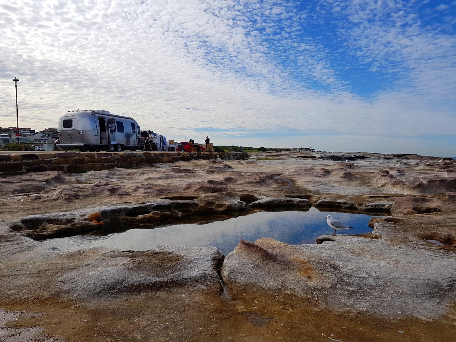 SGMT Australia Sydney_Bondi to Coogee Coastal Walk_15 Clovelly Beach Car Park Clouds and Birds