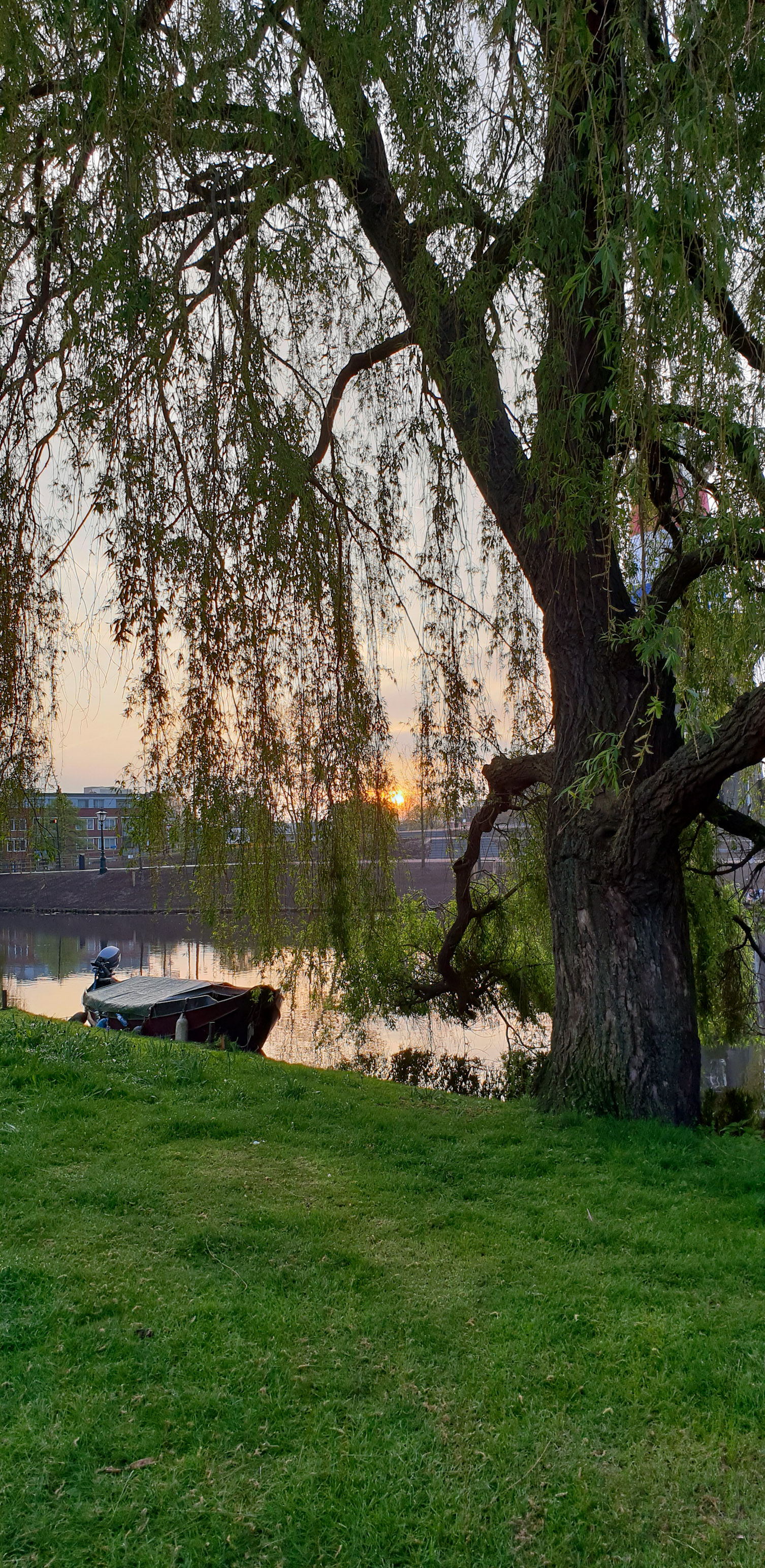 SGMT | Leiden | Boat in sunrise