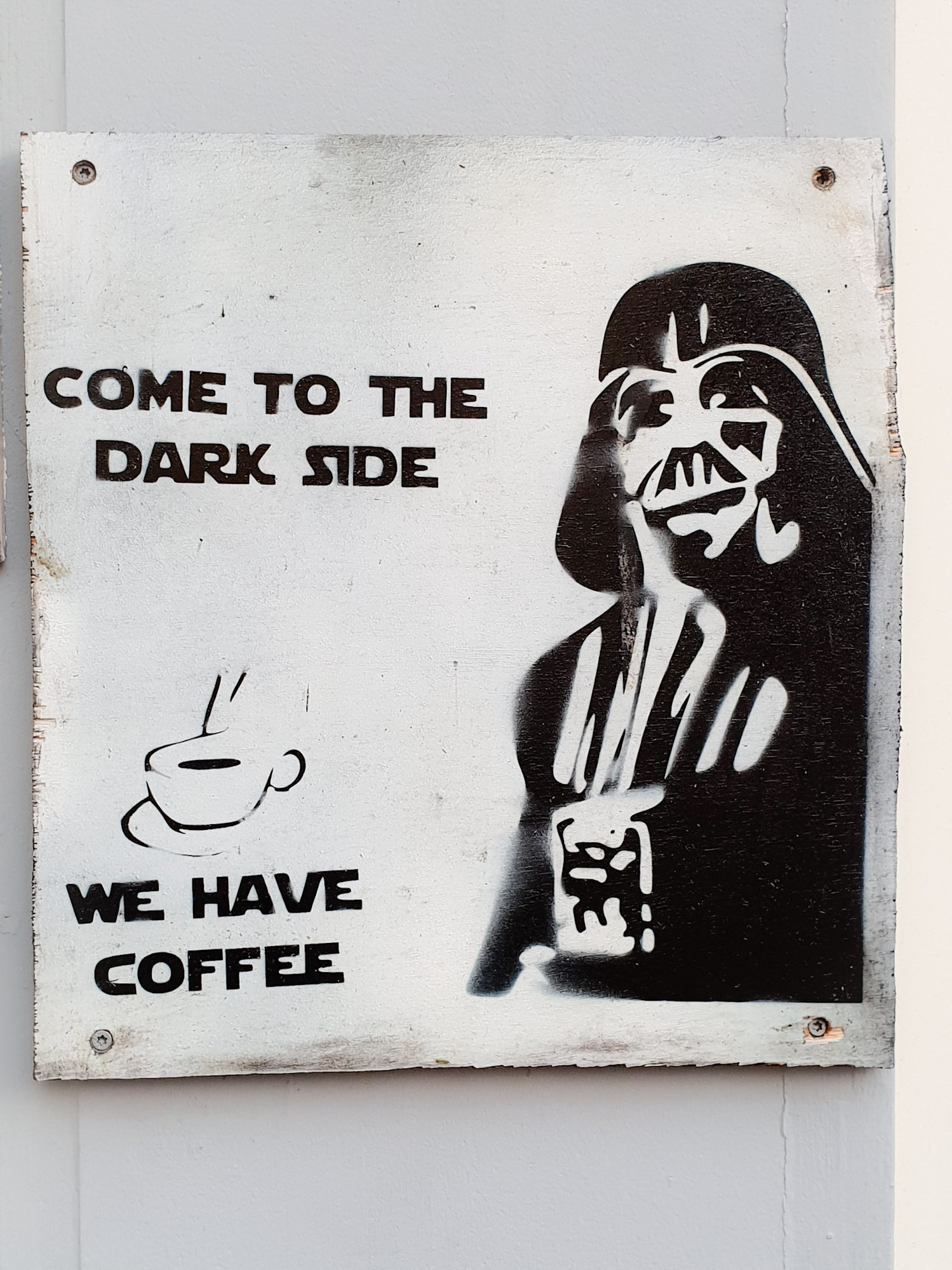 SGMT | Leiden | Graffiti | Darth Vader dark side coffee